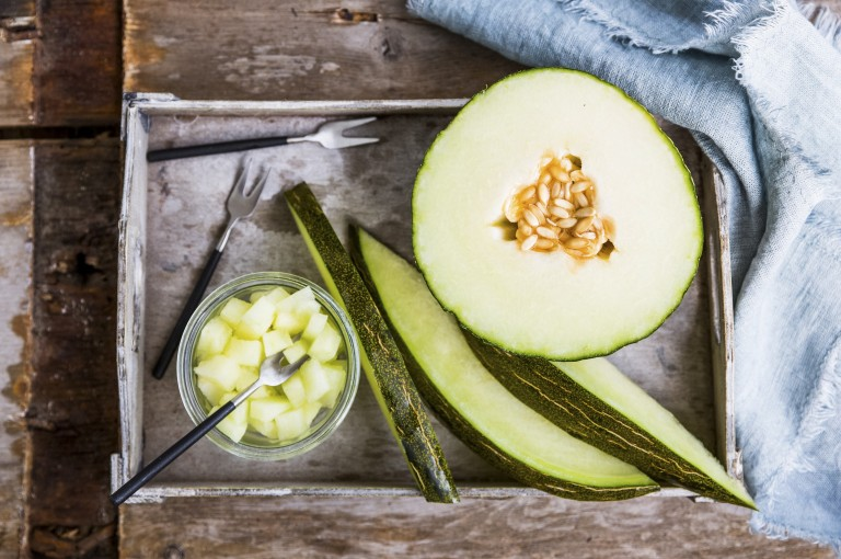 The Piel de Sapo melon is a deliciously sweet and refreshing melon that can be cut into ready-to-eat slices